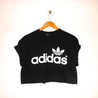 classic original back adidas swag style crop top tshirt fresh boss dope celebrity festival clothing 90's fashion urban unique sexy