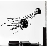 Wall Decal Jellyfish Ocean Sea Ornament Tribal Mural Vinyl Decal Unique Gift (z3185)