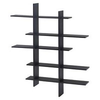 Danya B™ Five Level Asymmetric Wall Shelf Black