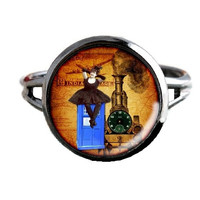Dr Who Inspired Tardis Ring - Train - Public Police Box Jewelry - Geeky Whovian
