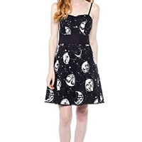 Sourpuss Moon Faces Party Dress