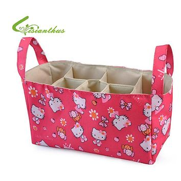 Baby Stroller Storage Bag Organiser for Mommy Diaper Bag Cartoon Nappy Bags Maternity Nursery Bag Hello Kitty Free Drop Shipping
