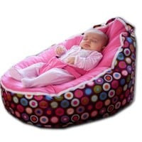 BayB Bean Bag For Babies - Filled, Ready To Use - Ships in 24 Hrs (Pink)