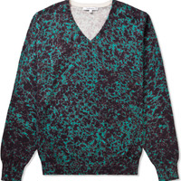 Frist Green Notebook Printed Knit Pullover