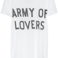 Zoe Karssen Army Of Lovers cotton and modal-blend T-shirt – 50% at THE OUTNET.COM