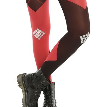 Licensed cool SUICIDE SQUAD DC  HARLEY QUINN Costume Cosplay Split Tights Pantyhose NEW