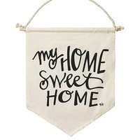 My Home Canvas Banner