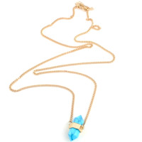 Turquoise Natural Stone Long Necklace