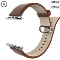 HOCO Genuine Leather Band For Apple Watch 42MM 38MM Cattle Leather With Classic Stainless Steel Buckle for Apple iWatch