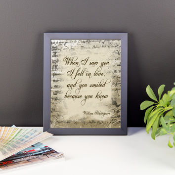 Because You Knew Shakespeare Framed poster