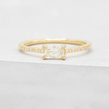 Classic Baguette Ring - Gold