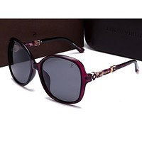 Louis Vuitton Women Casual Popular Summer Sun Shades Eyeglasses Glasses Sunglasses