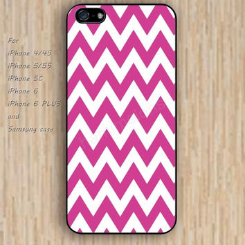 iPhone 6 case dream hot pink chevron iphone case,ipod case,samsung galaxy case available plastic rubber case waterproof B192