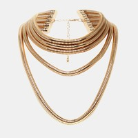 River Island Anna Snake Chain Layered Necklace
