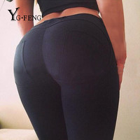 YGFENG Women Sexy Leggings Fashion Work Out Fitness Push Up Elastic Bodybuilding Trousers High Quality Slim Jeggings Leggings