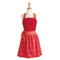 Cherry Red Floral Dot Apron