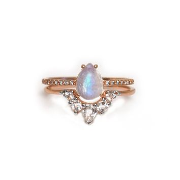 The Rainbow Moonstone Lovers Stack