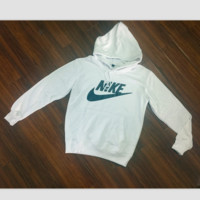 """NIKE"" Women Fashion Hooded Top Pullover Sweater Sweatshirt White"