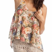 floral lace tank $20.20 in TAUPE - Sleeveless | GoJane.com