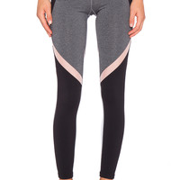 Splits59 Jordan Full Length Pant in Heather Grey, Black, White & Blush
