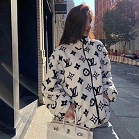 LV Louis Vuitton Women Zipper Cardigan Jacket Coat