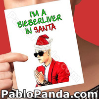 Christmas Cards | Belieber | Love Yourself Naughty Christmas Christmas Boyfriend Boyfriend Gift Funny Boyfriend Girlfriend Card Holiday Card