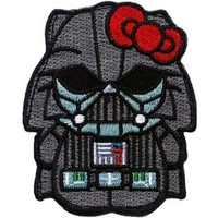 Hello Darth Vader Kitty Star Wars Empire Dark Side Morale Patch by Patch World