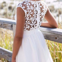 Lace Patchwork Prom Dress 10902