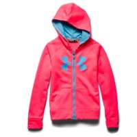 Under Armour Girls' UA Storm Armour Fleece Big Logo MagZip Hoodie