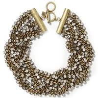 Banana Republic Braided Chain Necklace Size One Size - New bronze