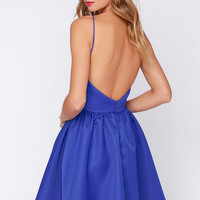 Chic and Repeat Blue Backless Dress