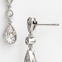 Women's Kwiat 'Sunburst' Diamond Drop Earrings - White Gold