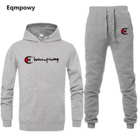 2 Pieces Sets (Jacket+Pant+hoodies) Tracksuit Men Sporting Brand-Clothing