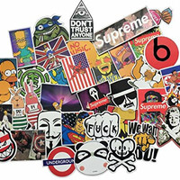 Ashir Aley Pack of 200pcs All Different Stickers Skateboard Vintage Vinyl Sticker Graffiti Laptop Luggage Car Bike Decals Mix Lot Cool