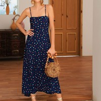 Colorful Polka Dot Print Cami Dress