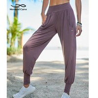 2018 New Yoga Pants Female Dance Training Running Elastic Band Ankle Strap Fitness Pants Comfortable Loose Women Yoga Harem Pant