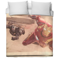 War Machine & Iron Man Bed Blanket