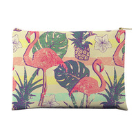 Flamingos and Pineapples Pouch