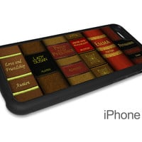Jane Austen Novels Phone Case for iPhone and Samsung Phones