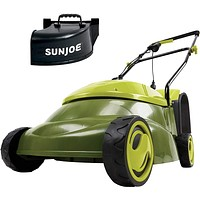 """14 inch 13 Amp Electric Lawn Mower w/Side Discharge Chute, 14"""", Green."""