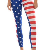 American Flag Leggings | Tipsy Elves