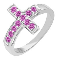 Jared - Color Stone Cross Ring