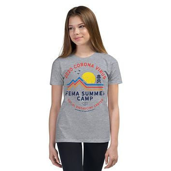 2020 Coronavirus FEMA Summer Camp Youth Short Sleeve T-Shirt