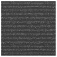 Jane Austen Text Black and White Fabric