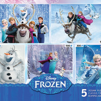 Ceaco Disney Frozen - 5 in 1 Collection of Jigsaw Puzzles