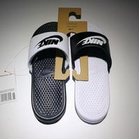 New Nike Benassi Jdi cheap Men's and women's nike Slippers Beach shoes-1686248855