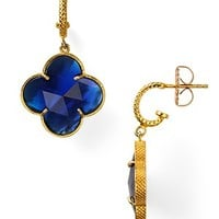 Coralia Leets Cobalt Blue Clover Earrings