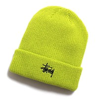 HO19 Basic Cuff Beanie Neon Yellow
