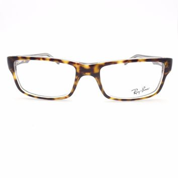 Ray Ban RB 5245 5082 Havana Transparent New Frames Authentic Eyeglass