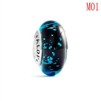 Fit for pandora beads, Silver Murano glass bead M1-5